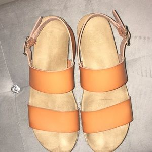new directions Shoes - New Directions flat-form sandals